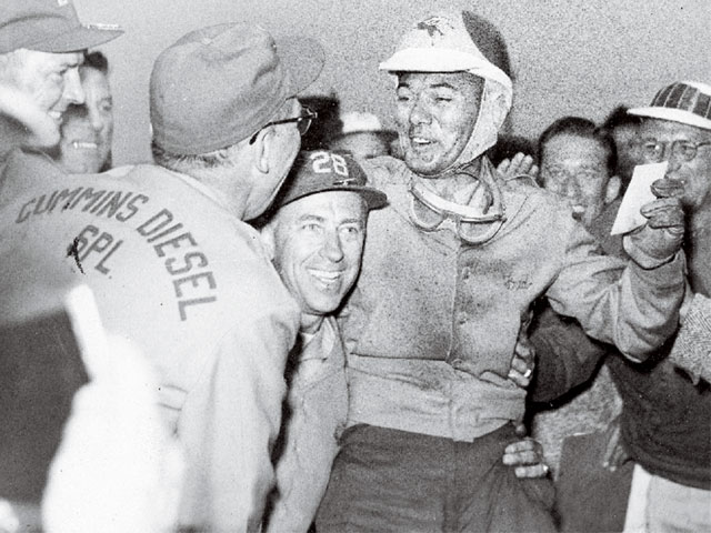 Driver Fred Agabashian secured the coveted pole position for the 1952 Indy 500 race with a four-lap average of 138.010 mph. To put that speed in perspective, Ferrari's 12-cylinder gasoline car only averaged 134.300 mph during qualifying.