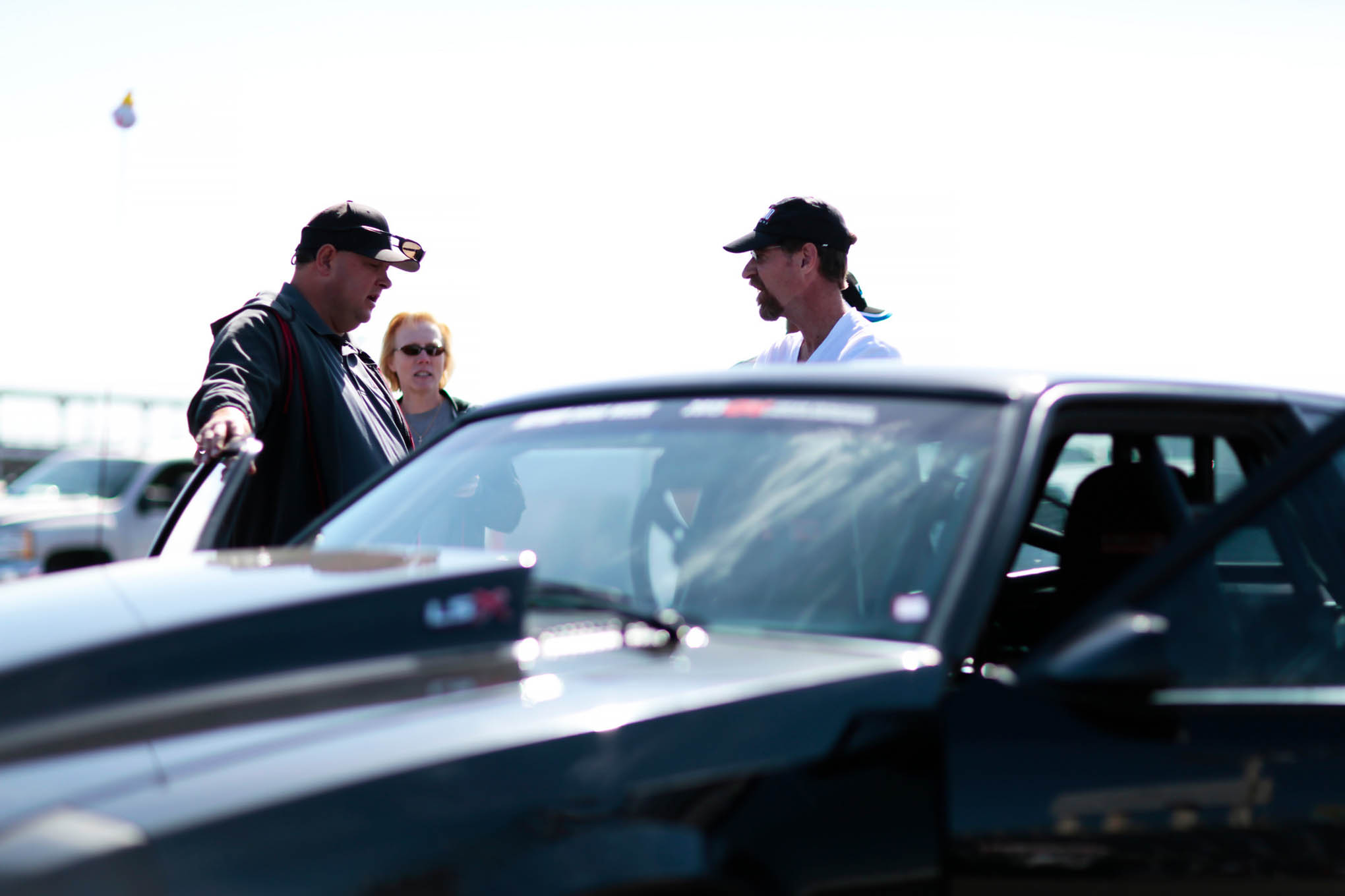 Lonnie Grim, HOT ROD Drag Weekend West's Race Marshal, helped tech inspect cars for proper classification.
