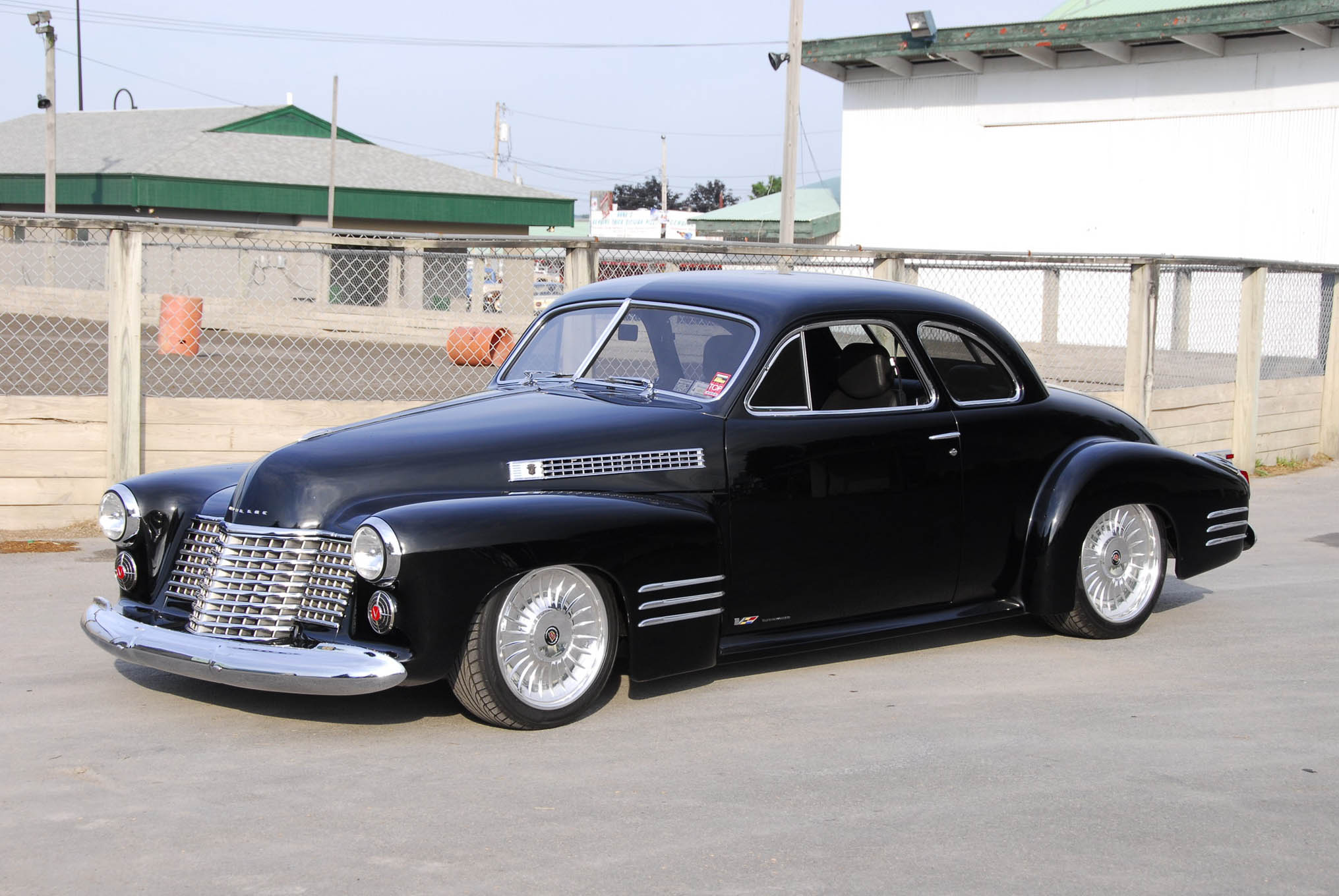 Infusing classic elegance with modern performance, Sotiri Dushas' 1941 Cadillac coupe was perched on a custom Tucci chassis with Corvette C6 suspension while a 2006 Cadillac 4.4L supercharged V-8 makes power linked to a six-speed trans. Updated body lines included a shortened and pancaked hood with a reworked and laidback grille.