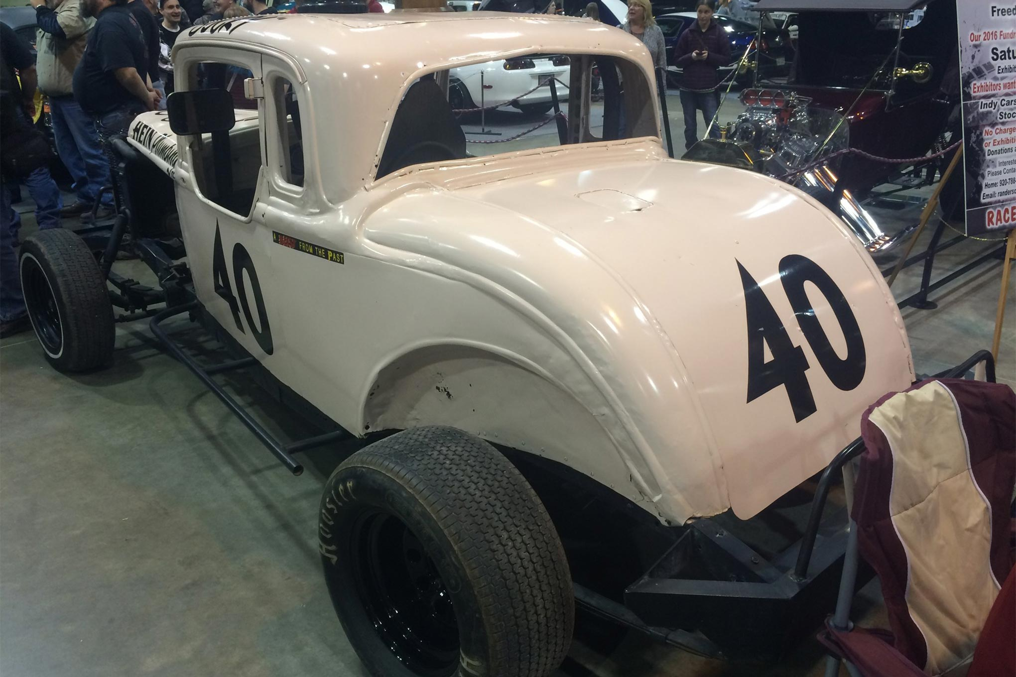 One of the most popular sights of Motorama was Bucky Wagner's '33 Coupe.  Most of it has been left original from when it was raced.
