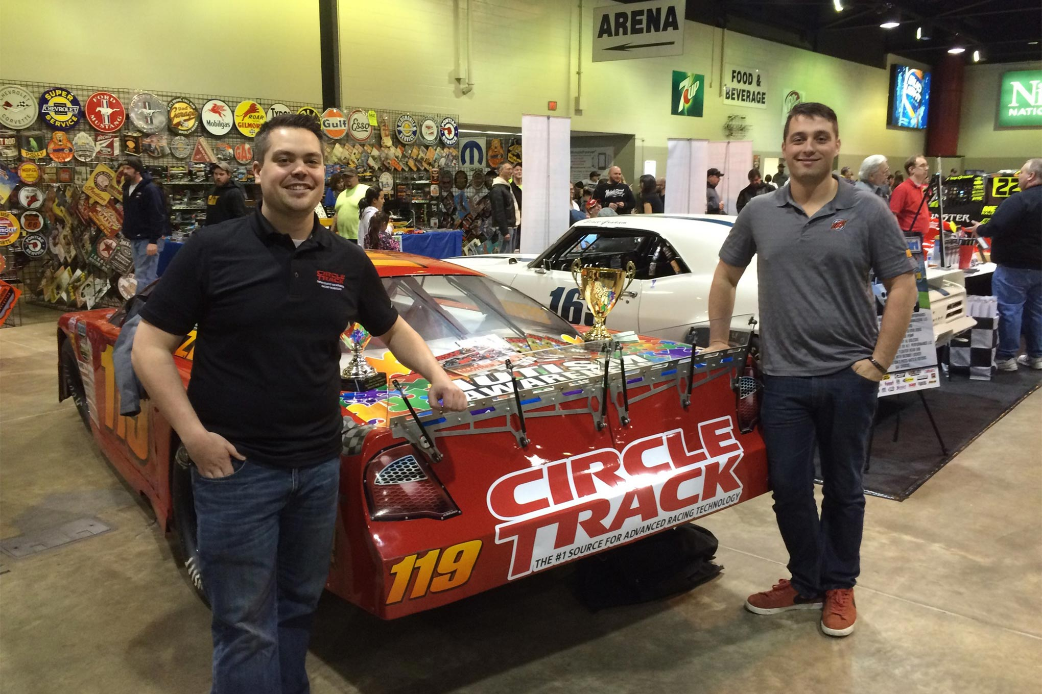 Zerh and CT Editor Matt Panure pose by project Super Late Model