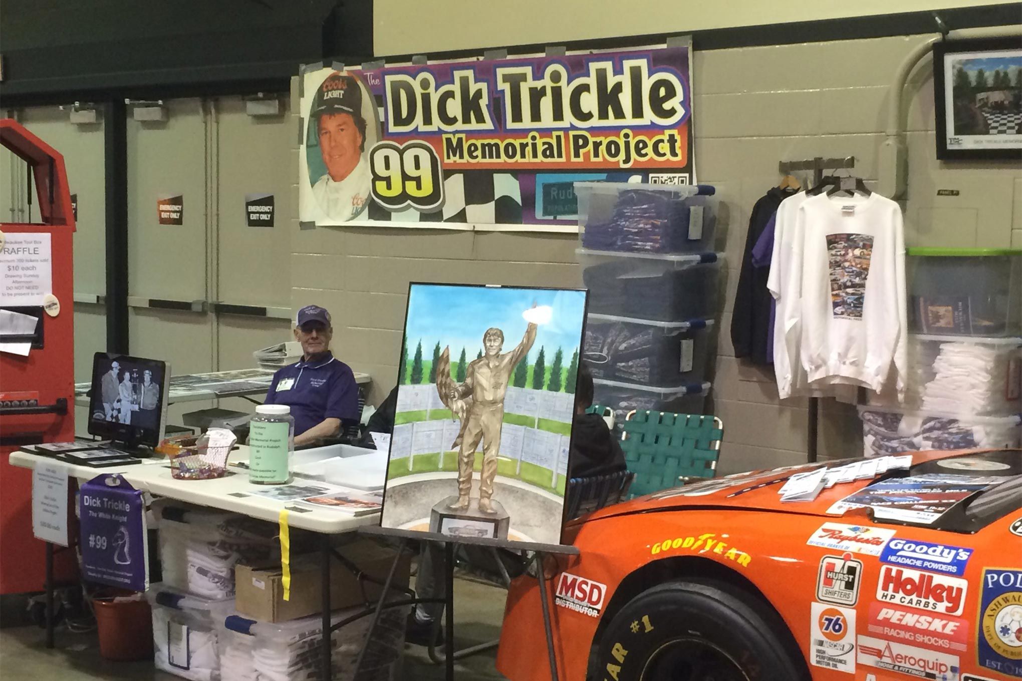 The Dick Trickle Memorial Foundation was at the show promoting their cause.  They have been raising funds for two years and hope to begin and complete construction on the Memorial in Trickle's hometown of Rudolph, WI this summer.