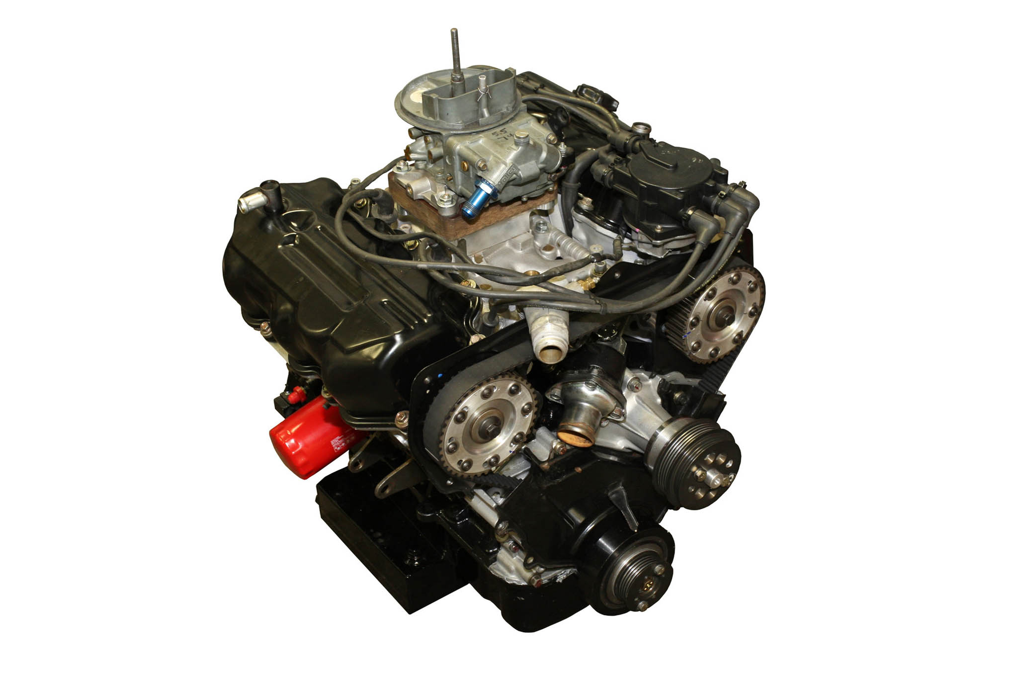 """It certainly doesn't look like your typical race engine, but this V6 Nissan--yes, we said """"Nissan""""--engine is just the type of outside-the-box thinking we need for low-cost, entry-level racing."""