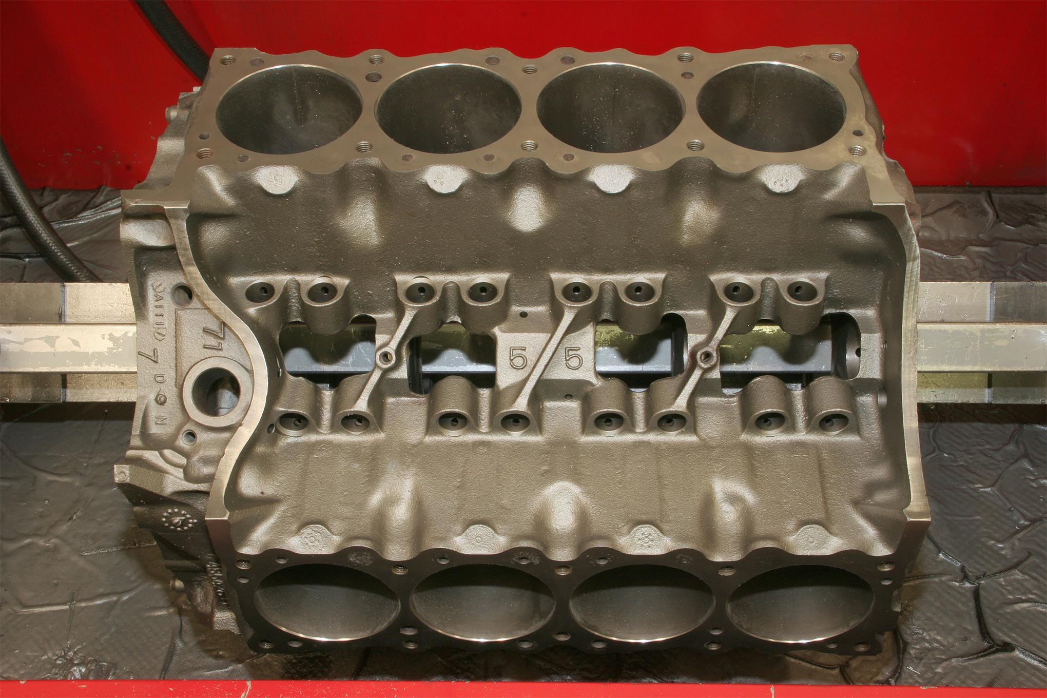 Most Pontiac 400 and 455s were equipped with two-bolt main caps, and they are quite sufficient to at least 600 hp and even more. Aged factory fasteners can be replaced with new units from ARP before the machining process if desired.