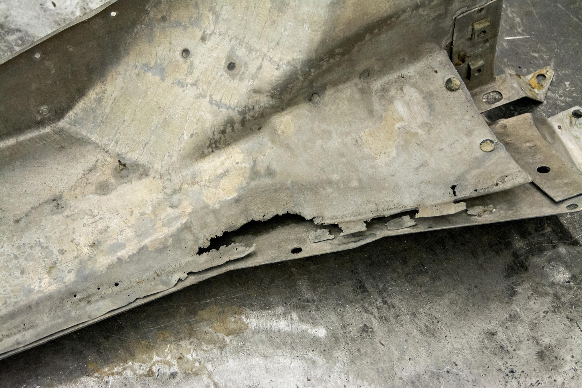 The laws of chemistry stop for no man. If water can collect somewhere, it will eventually lead to rust damage. The metal is perforated along the entire seam.