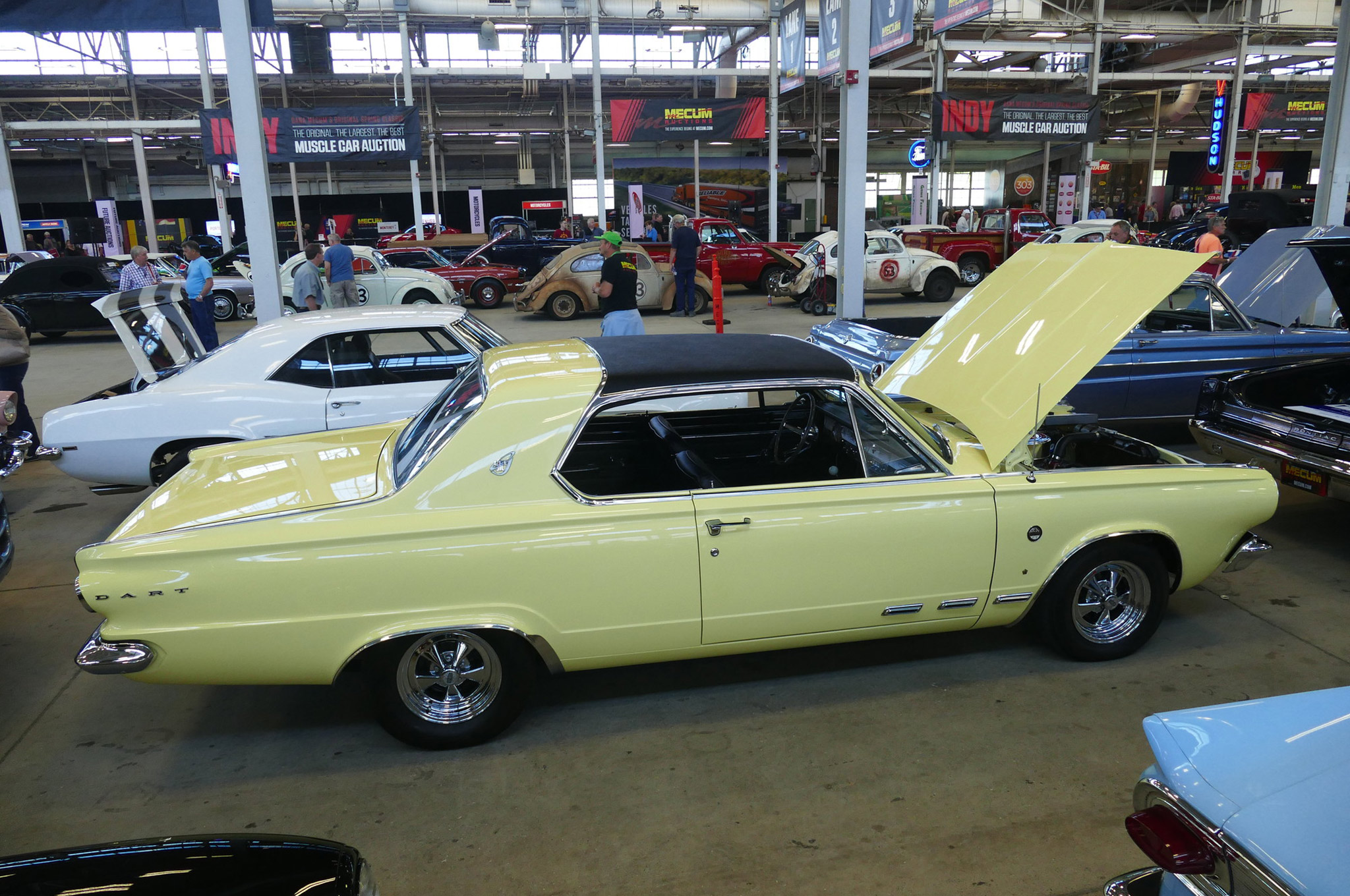 Thursday's action found this rare 1965 California Dart Charger 273 on deck. With 480 built, these are not often seen, and this restored example brought $22,000.