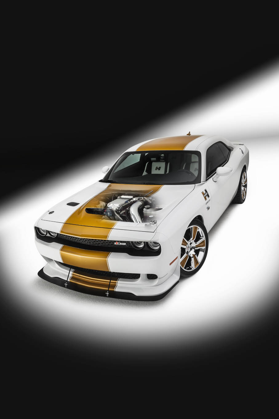 There are a variety of option levels for the Mr. Norm GSS Hurst Edition, but this particular car (including the new 2016 Scat Pack six-speed) runs around $70K. Larry Weiner of Mr. Norm's Performance says they can convert any 392-equipped (2011-up) SRT8 or Scat Pack Challenger to GSS Supercat specs. Hurst conversions on new or pre-owned cars are welcome.