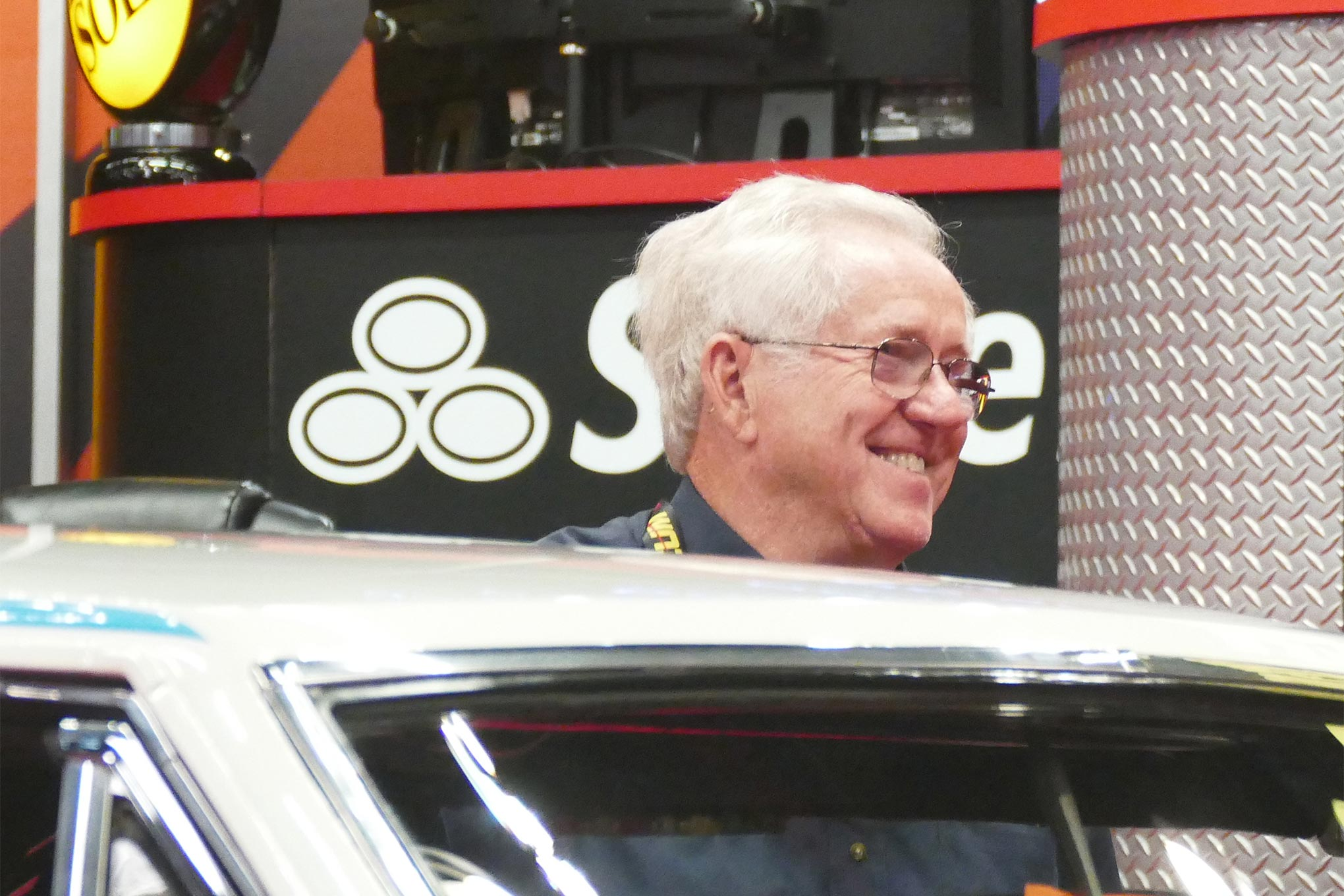 Herb McCandless himself was on hand to showcase his old Hemi Dart, now owned by Randy Hopkins. A high bid of $200,000 was not enough to get it a new owner.