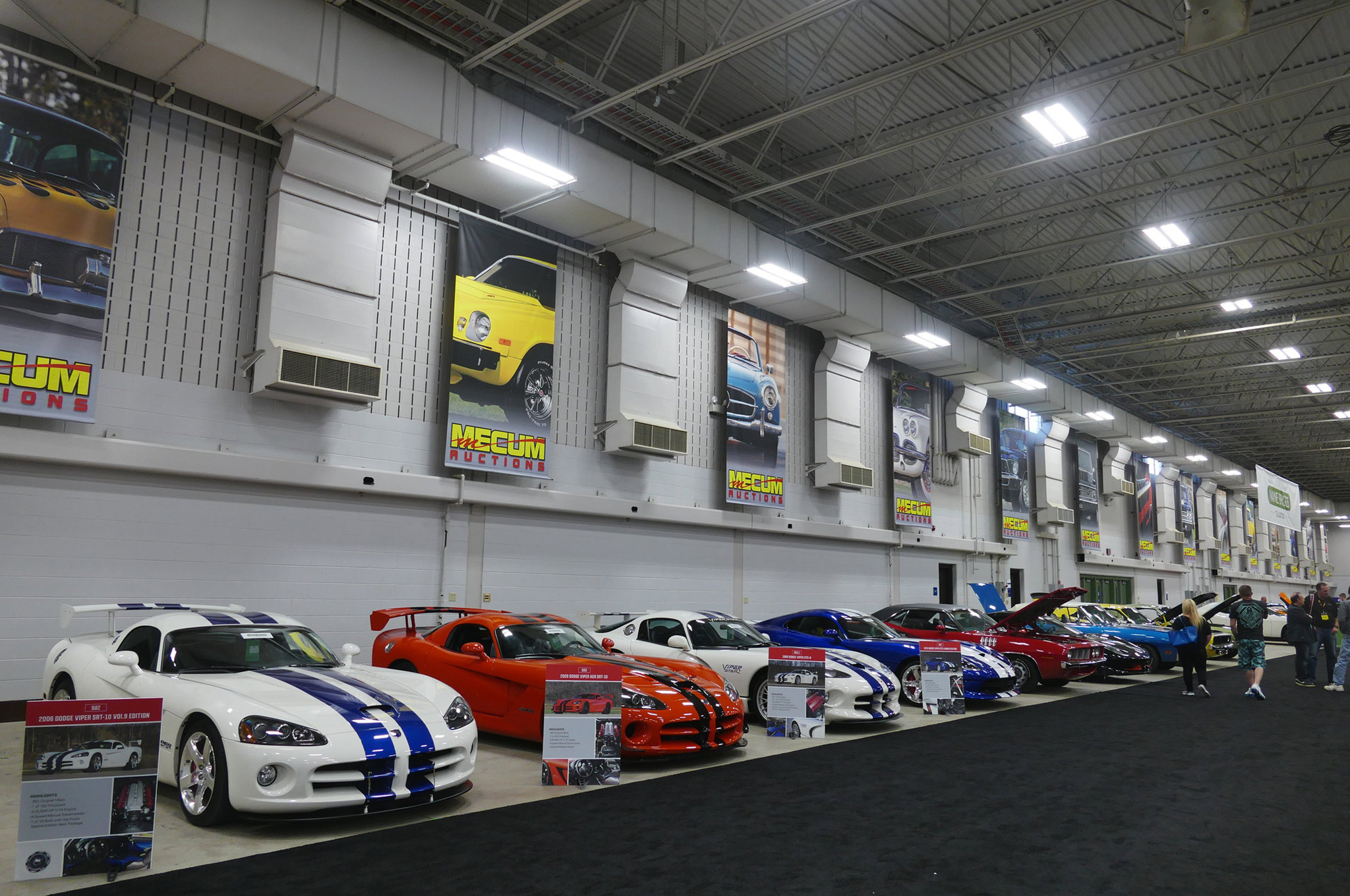 The Wayne Briggs collection consisted of unique collector-grade Vipers and Mopar iron, and was sold on Saturday morning.