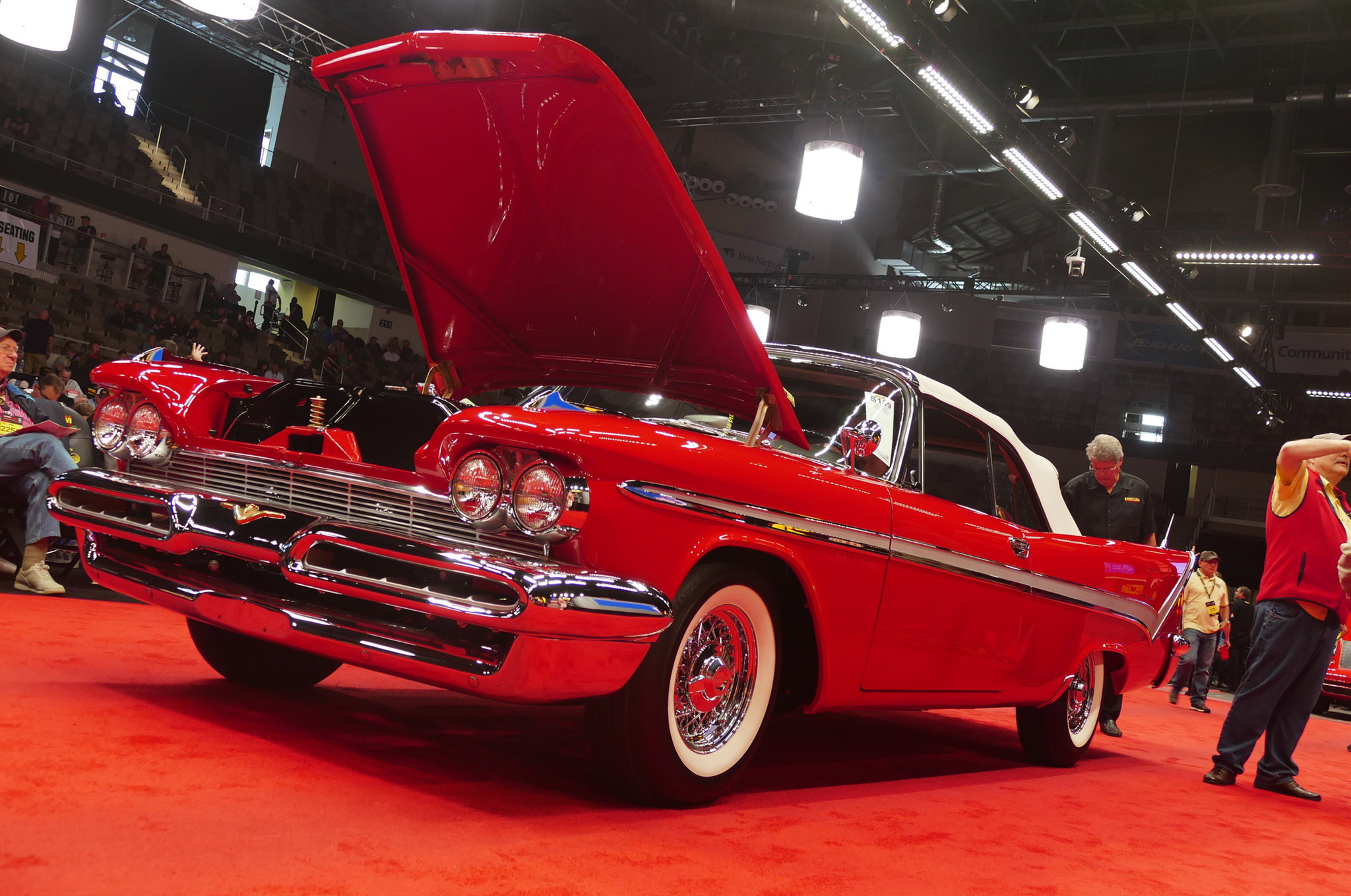 Here is the top non-muscle Chrysler selling over the weekend, a restored 1959 Desoto Firesweep convertible with low mileage that took the hammer down at $130,000.