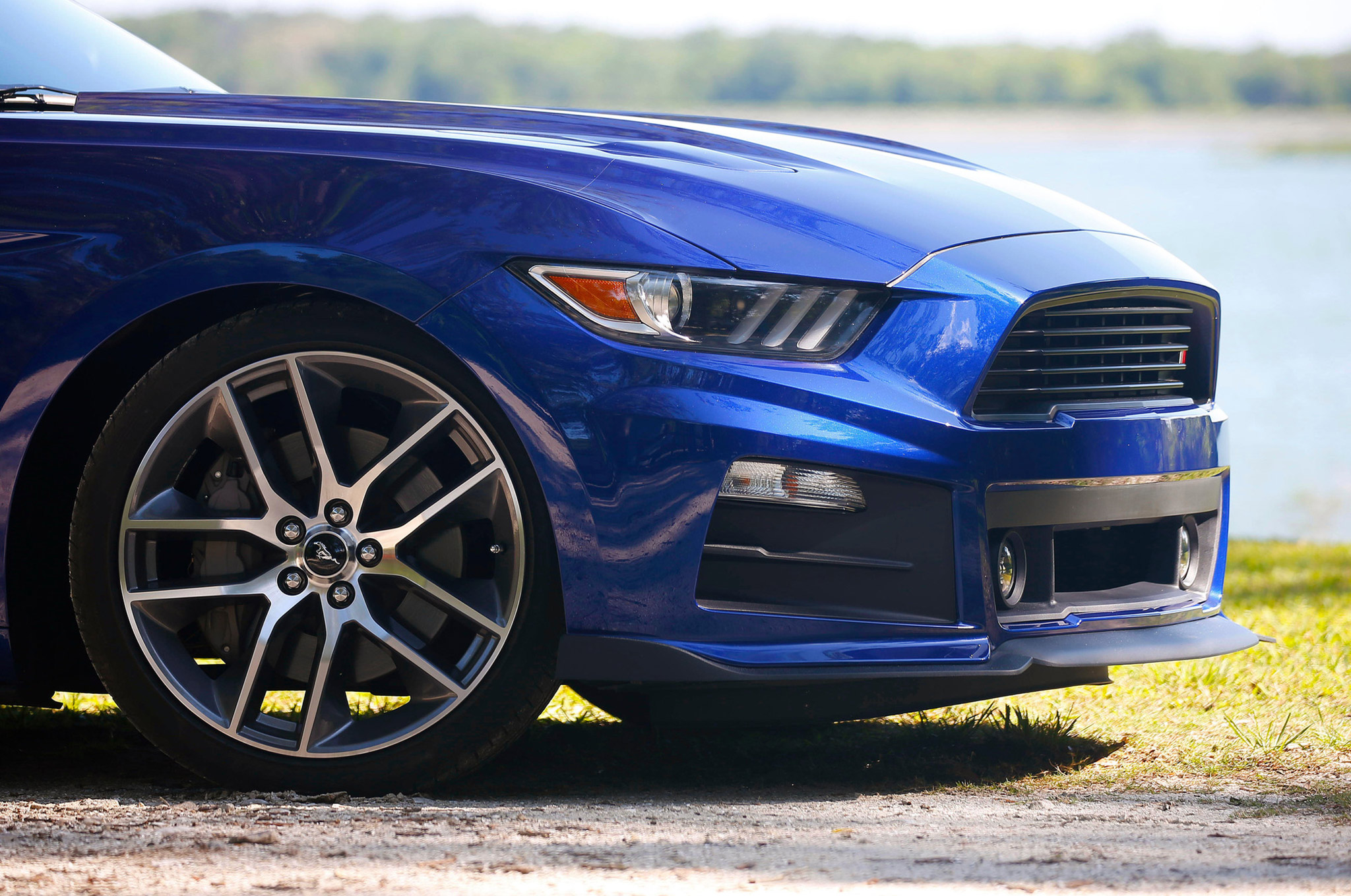 2015 Up Roush Performance Mustang Front Fascia Install Hot Rod Network 83 Engine Wiring Harness The Kit Is Used To Extend Driving Lights Since They Are Relocated On