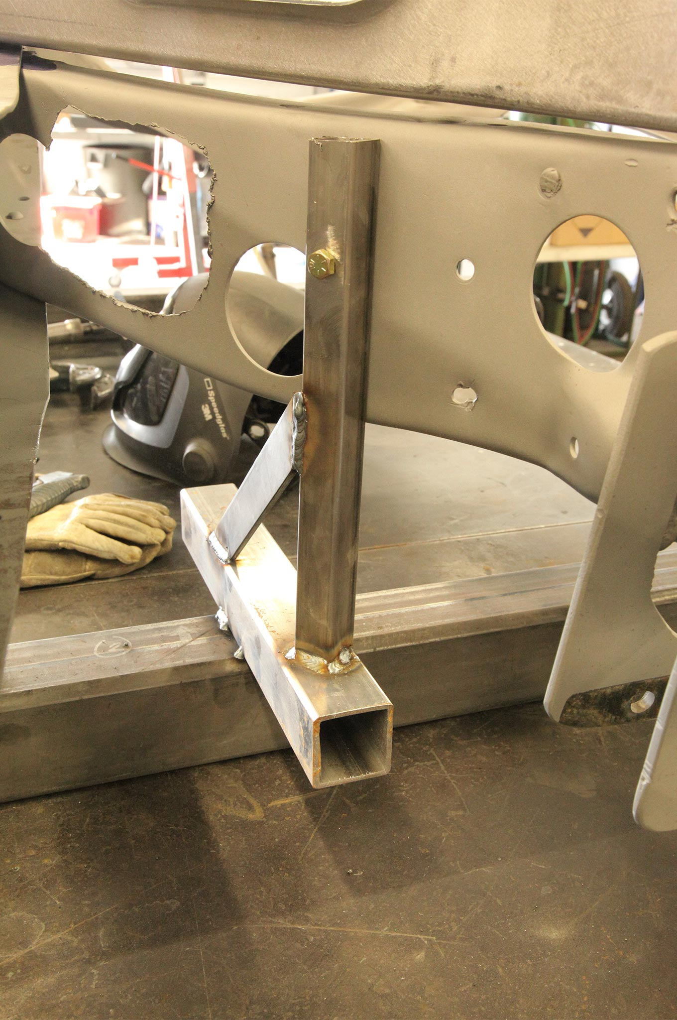 It's also a good idea to build a jig to locate the stock pedal assembly.
