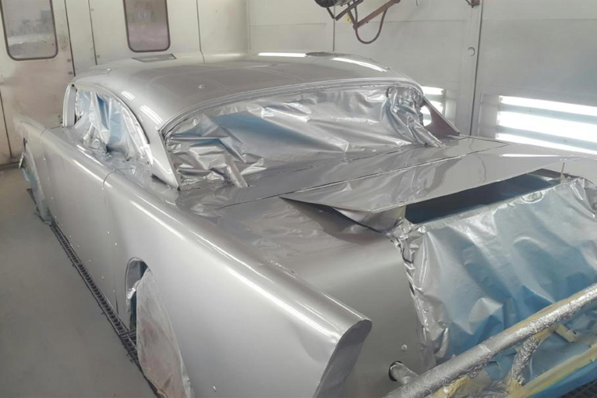 The Bel Aire got a silver coat.