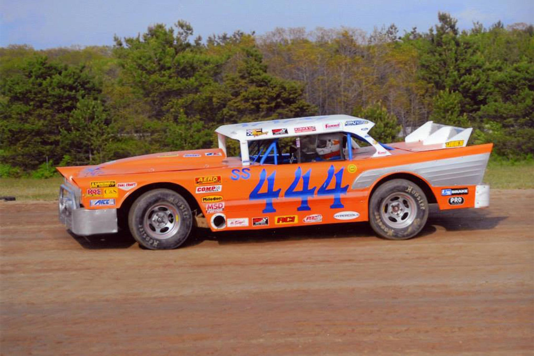 This photo is from the EVANS BROS. Racing Facebook page.  It is the original Evans Brothers '57 body.  Since starting their Facebook page just a few seasons ago, EVANS BROS. Racing has helped many others recreate the classic look.