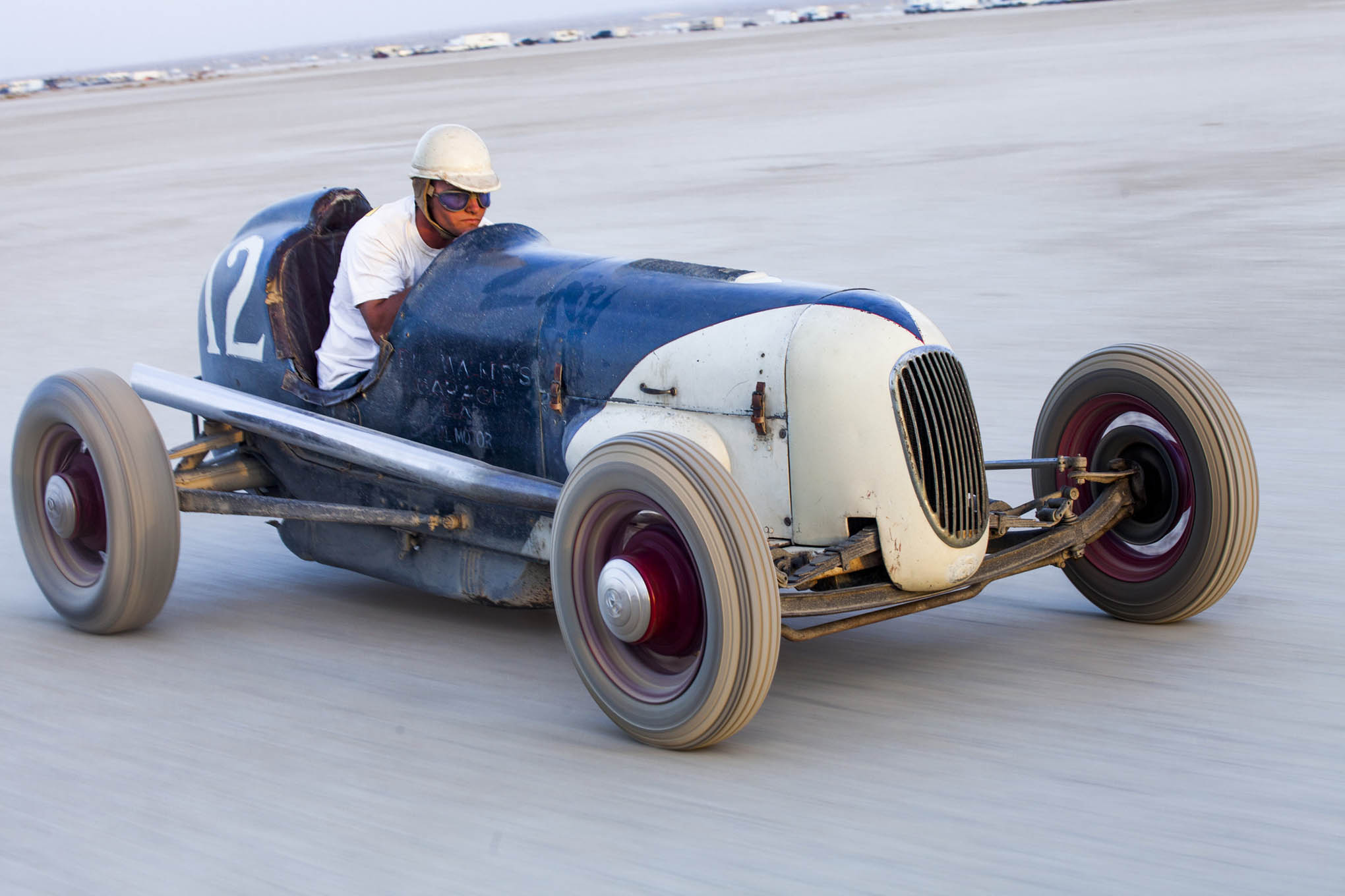 Is it 1946 or 2016? You'd be hard-pressed to tell, unless you recognized Billy Lattin sitting low in the cockpit. Billy is the third generation of Lattin men to drive the lakester at El Mirage, where it first raced back in the '40s.