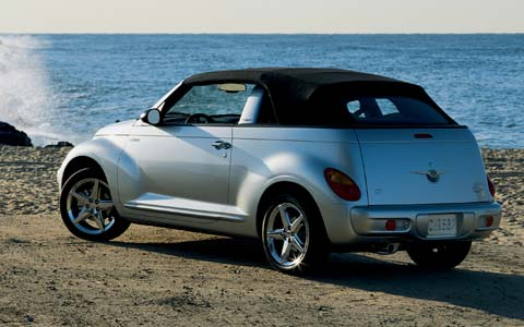 2005 chrysler pt cruiser convertible first drive road. Black Bedroom Furniture Sets. Home Design Ideas