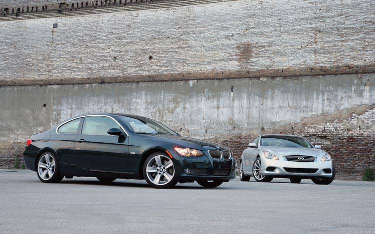 2008 infiniti g37 vs 2007 bmw 335i head to head motor. Black Bedroom Furniture Sets. Home Design Ideas