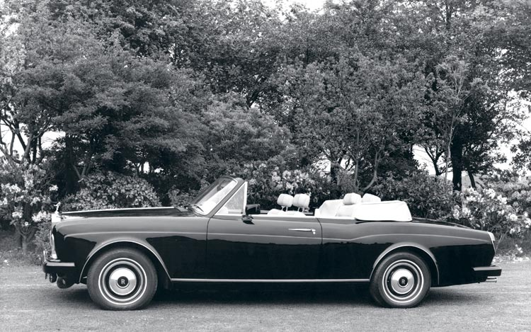 Long-lived Silver Shadow-based Corniche convertible.