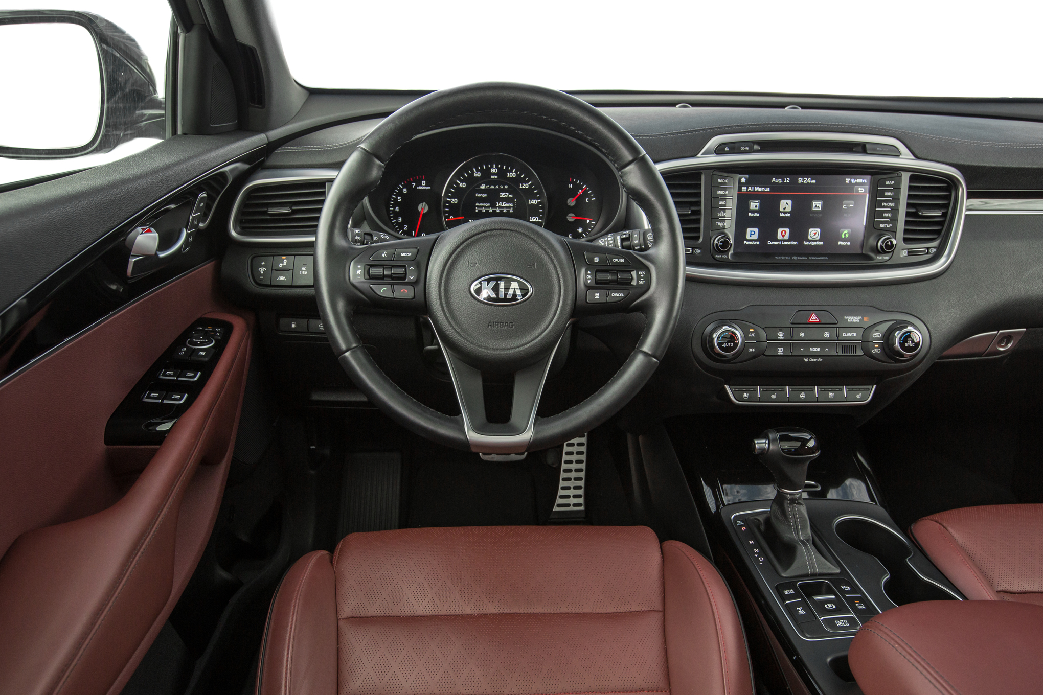 Inside the 2016 Kia Sorento SXL AWD (turbo-four)