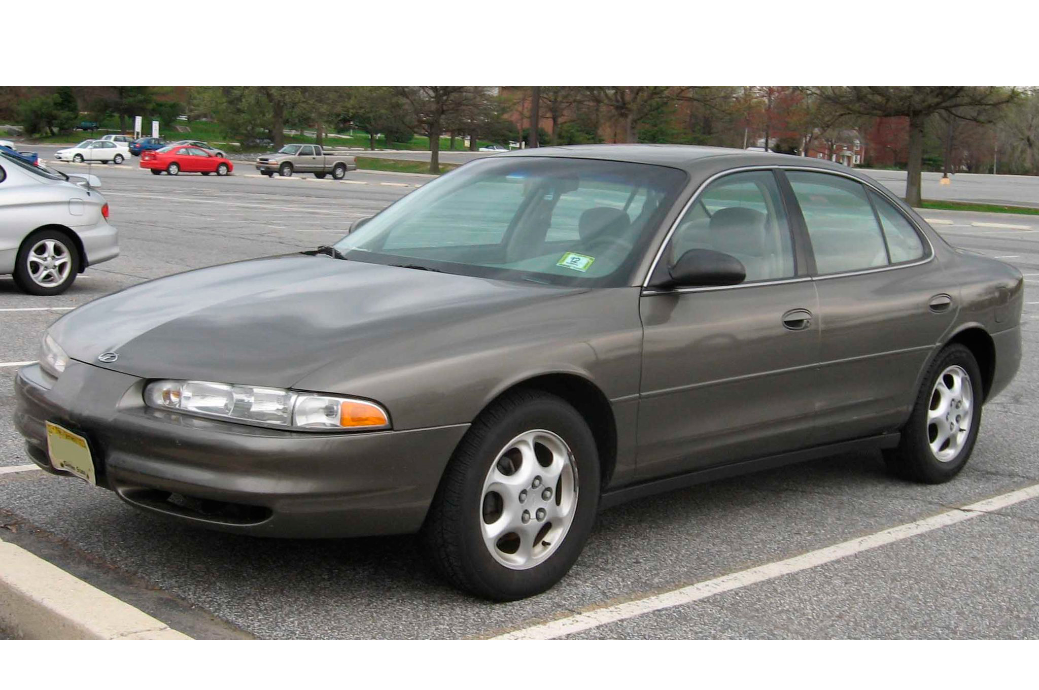 The Oldsmobile Intrigue production car is pictured here