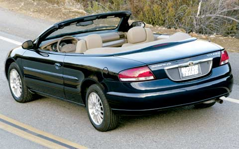 2004 chrysler sebring convertible road test review. Black Bedroom Furniture Sets. Home Design Ideas