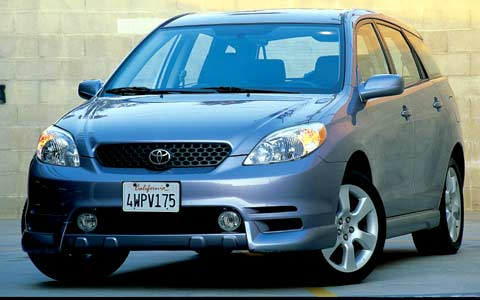 2003 toyota matrix xrs review price specs road test. Black Bedroom Furniture Sets. Home Design Ideas