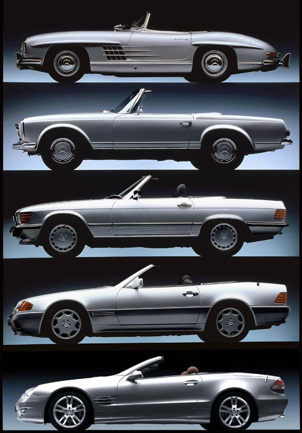 History of mercedes benz sl roadsters motor trend for What are the different classes of mercedes benz cars