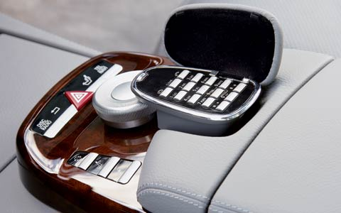 2007 mercedes benz s550 first test review motor trend for How to connect phone to mercedes benz