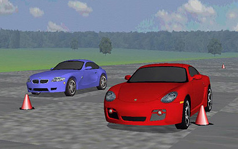 Bmw Z4 M Coupe Vs Porsche Cayman S Virtual Road Test Amp Car Racing Game Motor Trend