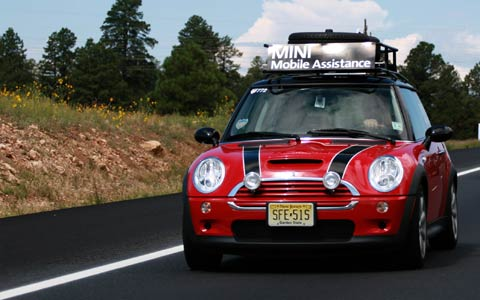 Mini takes the states cross country road trip event for Cross country motor club roadside assistance