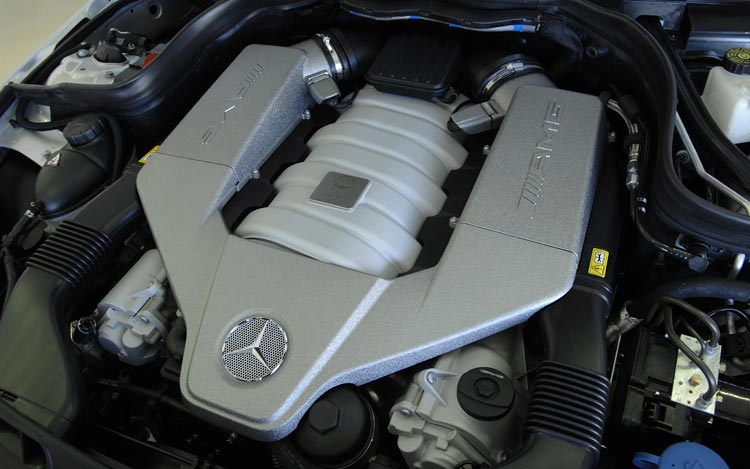 2008 mercedes benz c63 amg first drive motor trend for Mercedes benz c63 engine