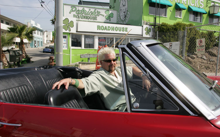 Food Network Celebrity Chef And Car Junkie Guy Fieri Is A True Bow