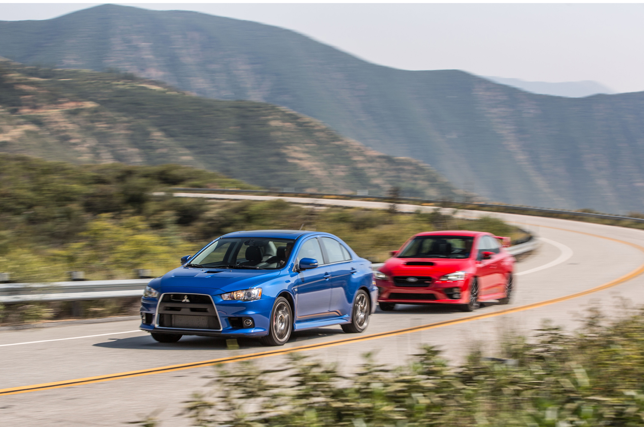 the end of a rivalry: mitsubishi lancer evolution mr and subaru wrx sti