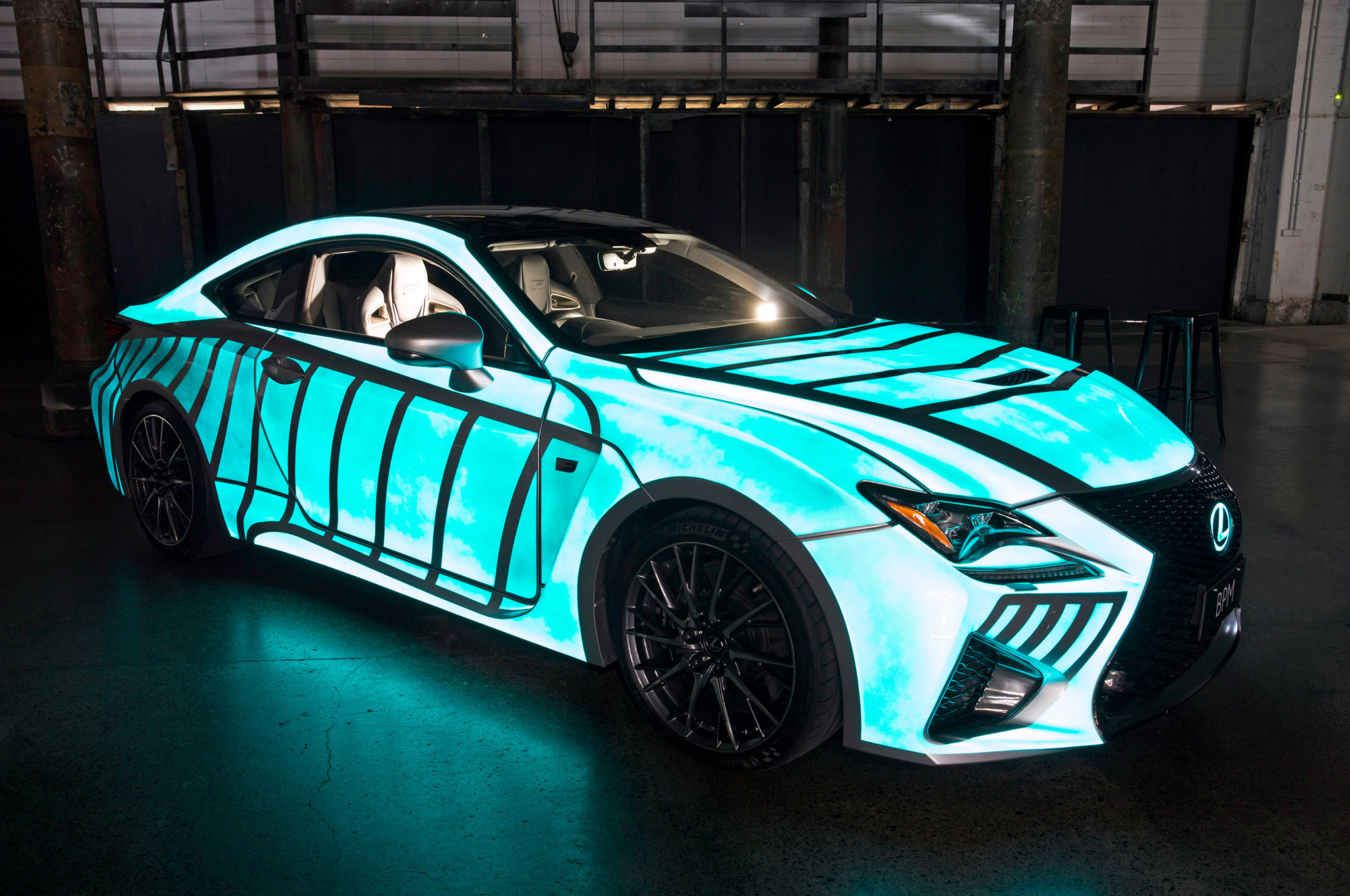 Watch A 2015 Lexus Rc F Light Up In Time With The Driver S Pulse