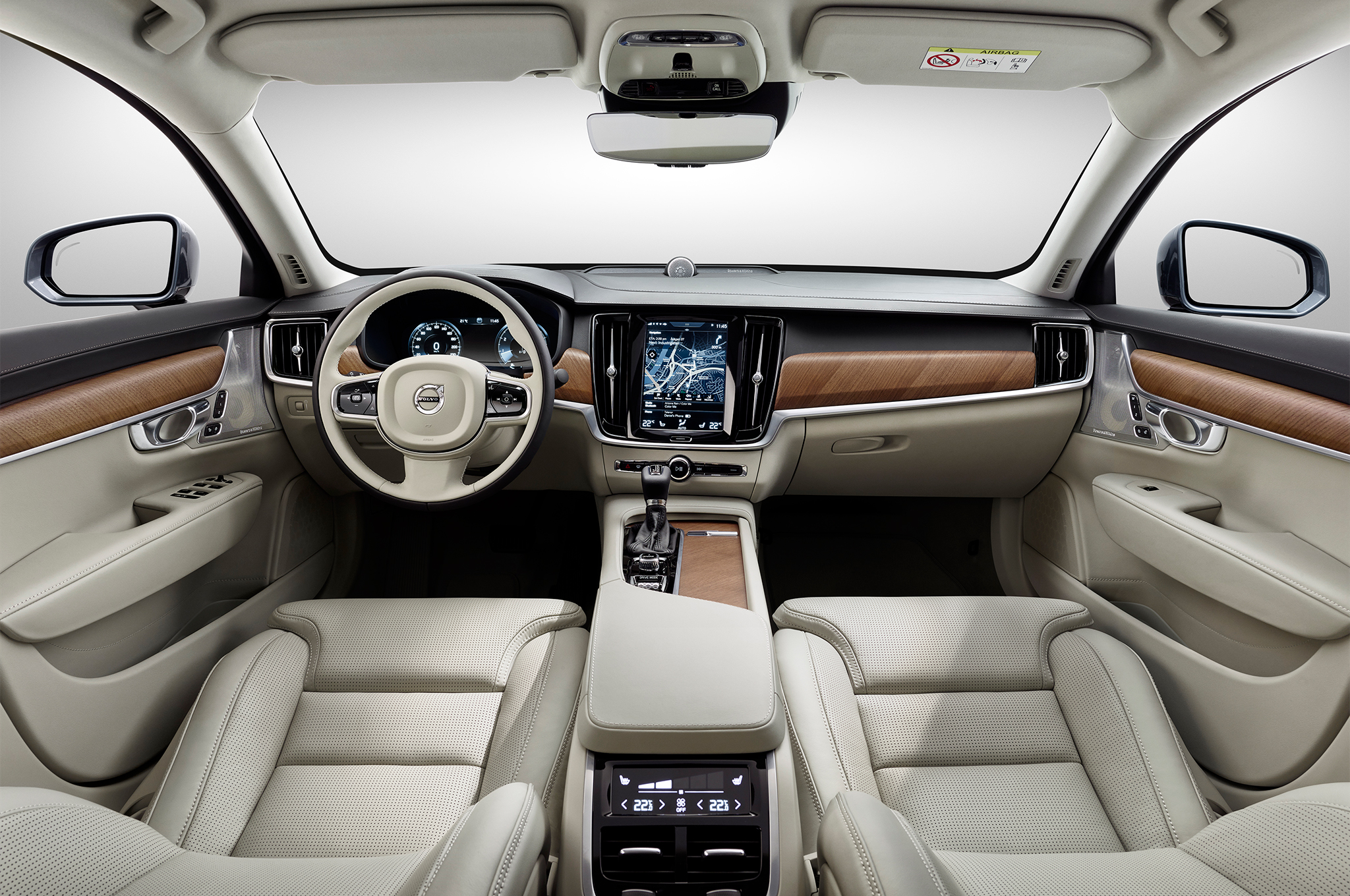 2017 Volvo S90 Luxury Sedan Fully Revealed With Xc90