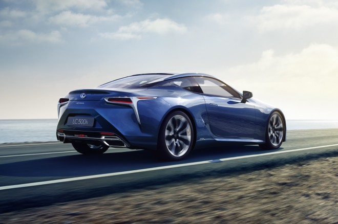 Lexus LC 500h rear side motion view