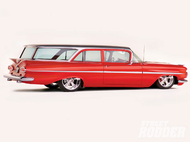1959 Chevy Impala And Biscayne Brookwood Wagon Hot Rod