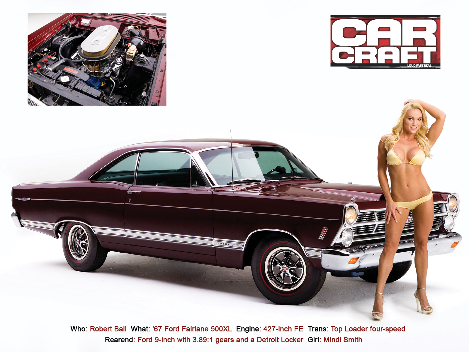 Car craft bikini issue the return of our annual swimsuit - Muscle car girl wallpaper ...