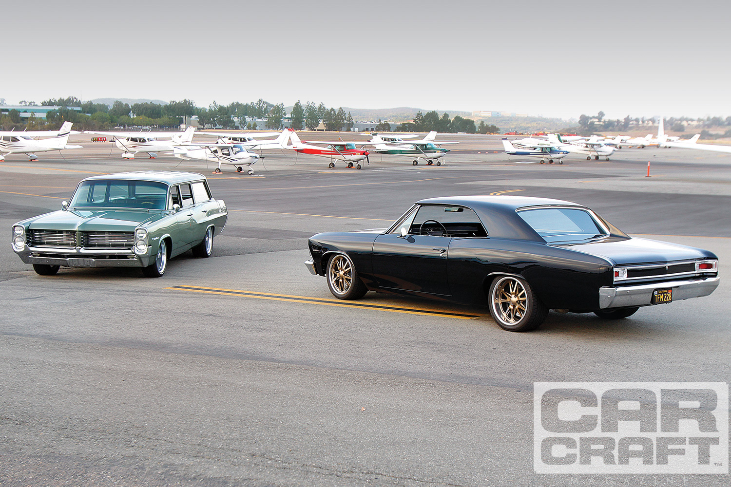 1964 Pontiac Wagon and 1966 Chevy Chevelle - Friends - Car Craft