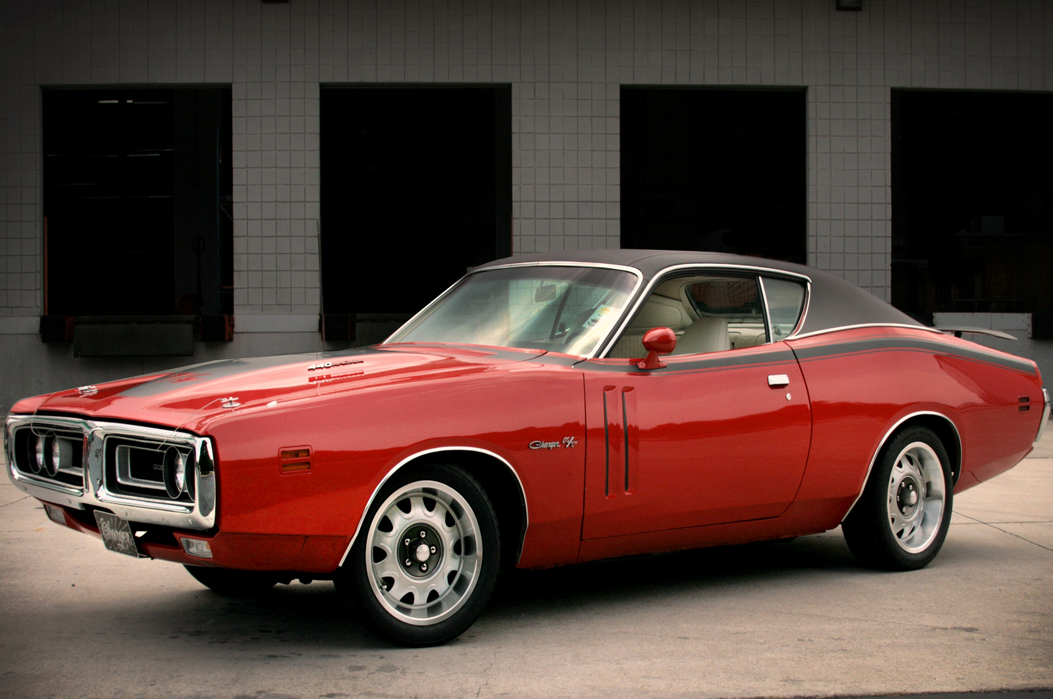 YearOne's cast-aluminum 17-inch Rallye wheels vastly improve this '71  Charger's traction