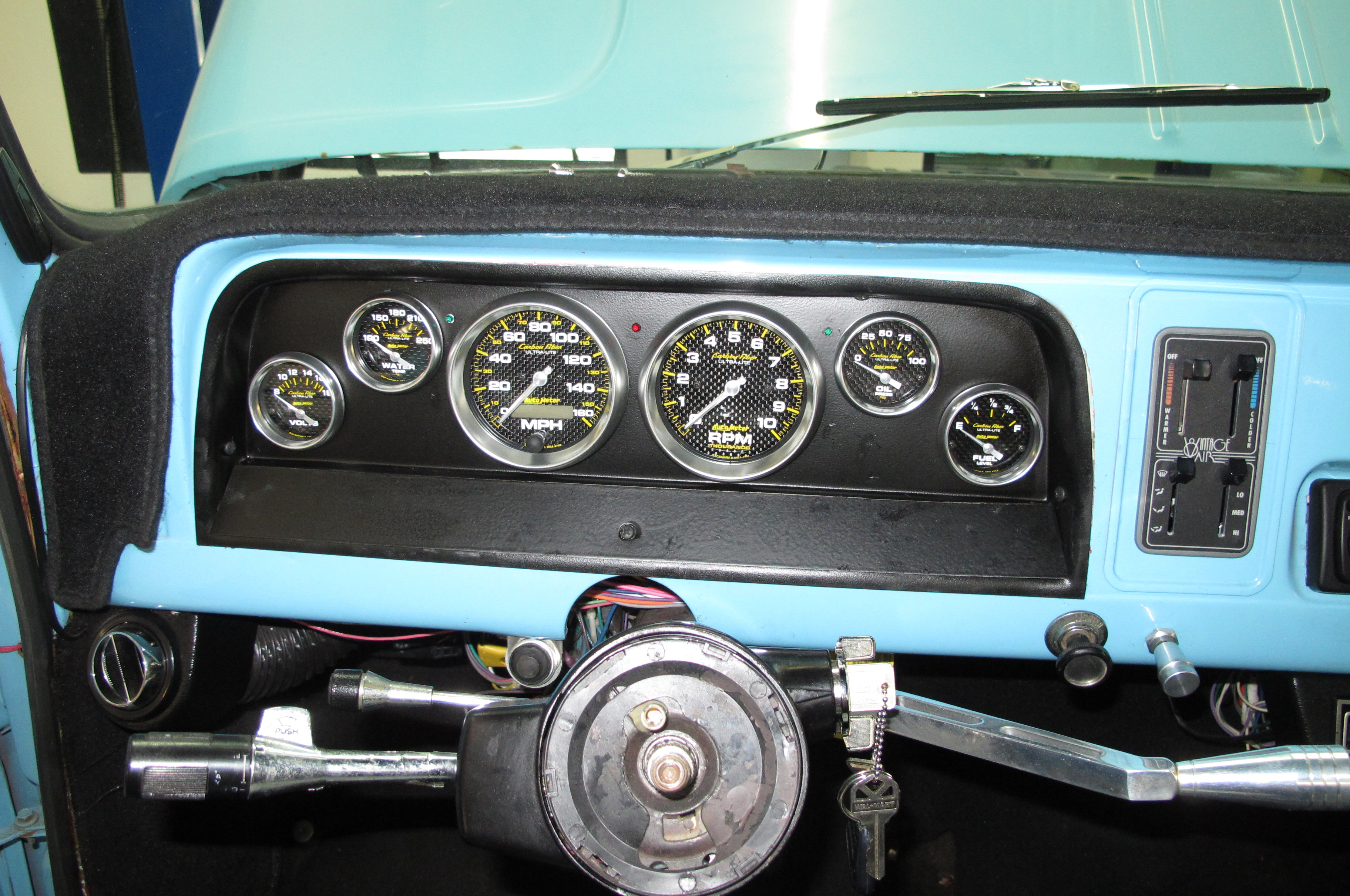 1965 Chevrolet C10 Pickup Gets a New Dash by Classic Dash