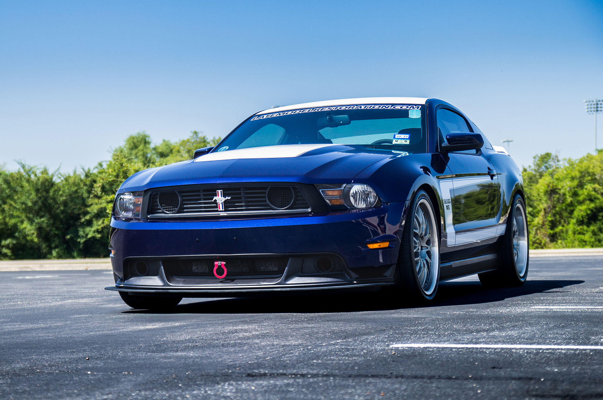 2015 Mustang Wheels >> Late Model Restoration's Kona Blue 2011 Ford Mustang is the Ultimate Mail Order Performance ...