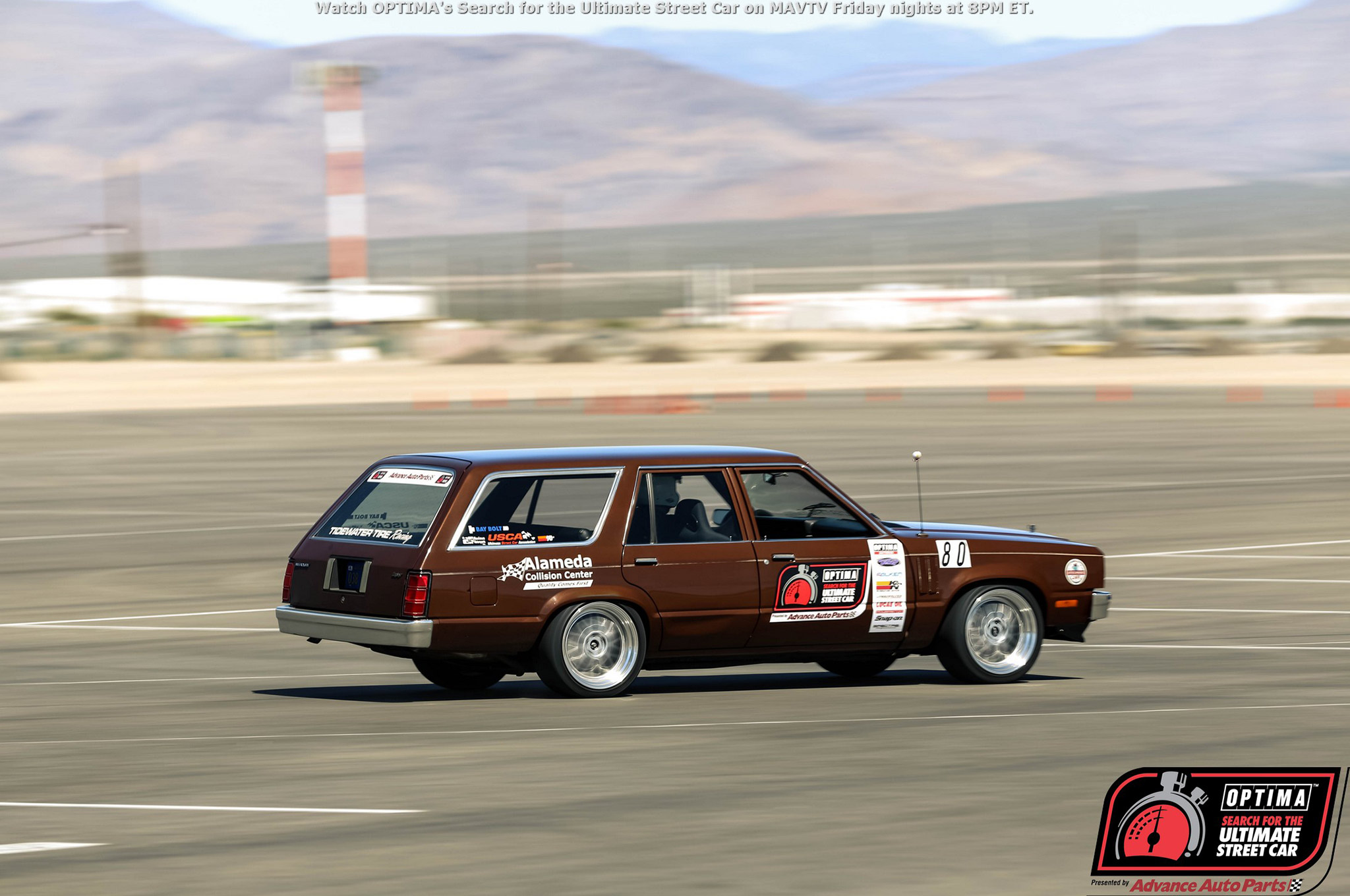 Martin Pond added weight to his 1980 Mercury Zephyr to make sure he could run in the vintage class and did so in the first two events of the year. So far, his strategy is serving him well, as he still holds fifth place in his class and is on track with points to earn an invitation to Las Vegas.