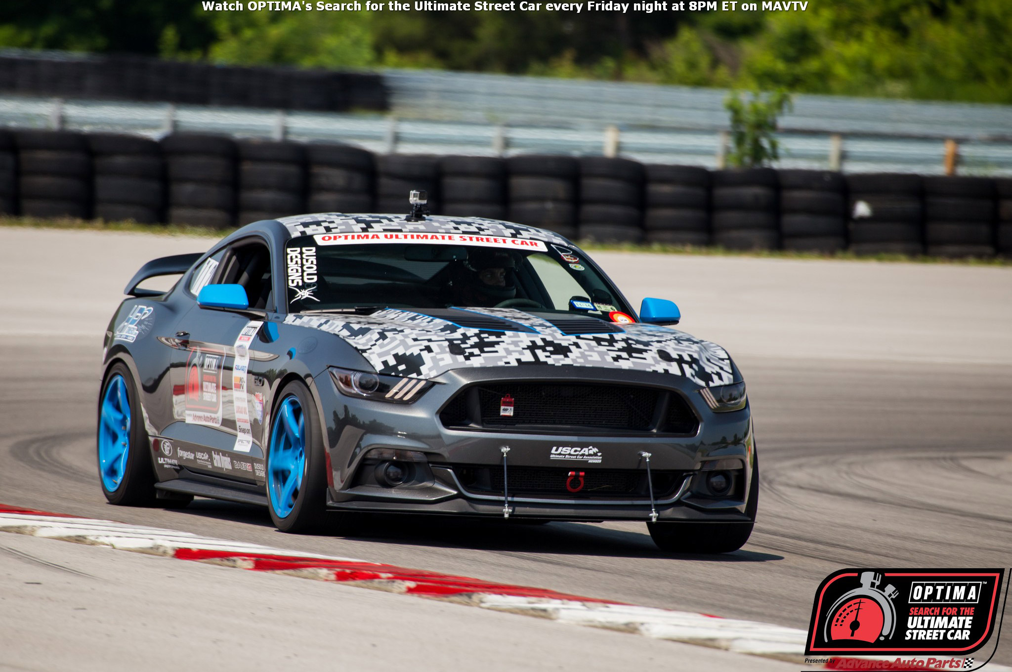 Aaron Sockwell brought his 2015 Mustang GT from the DuSold Designs stables up for a run at NCM Motorsports Park and placed third on the Detroit Speed Autocross and fifth on the Falken Road Course Time Trial in the GT class.