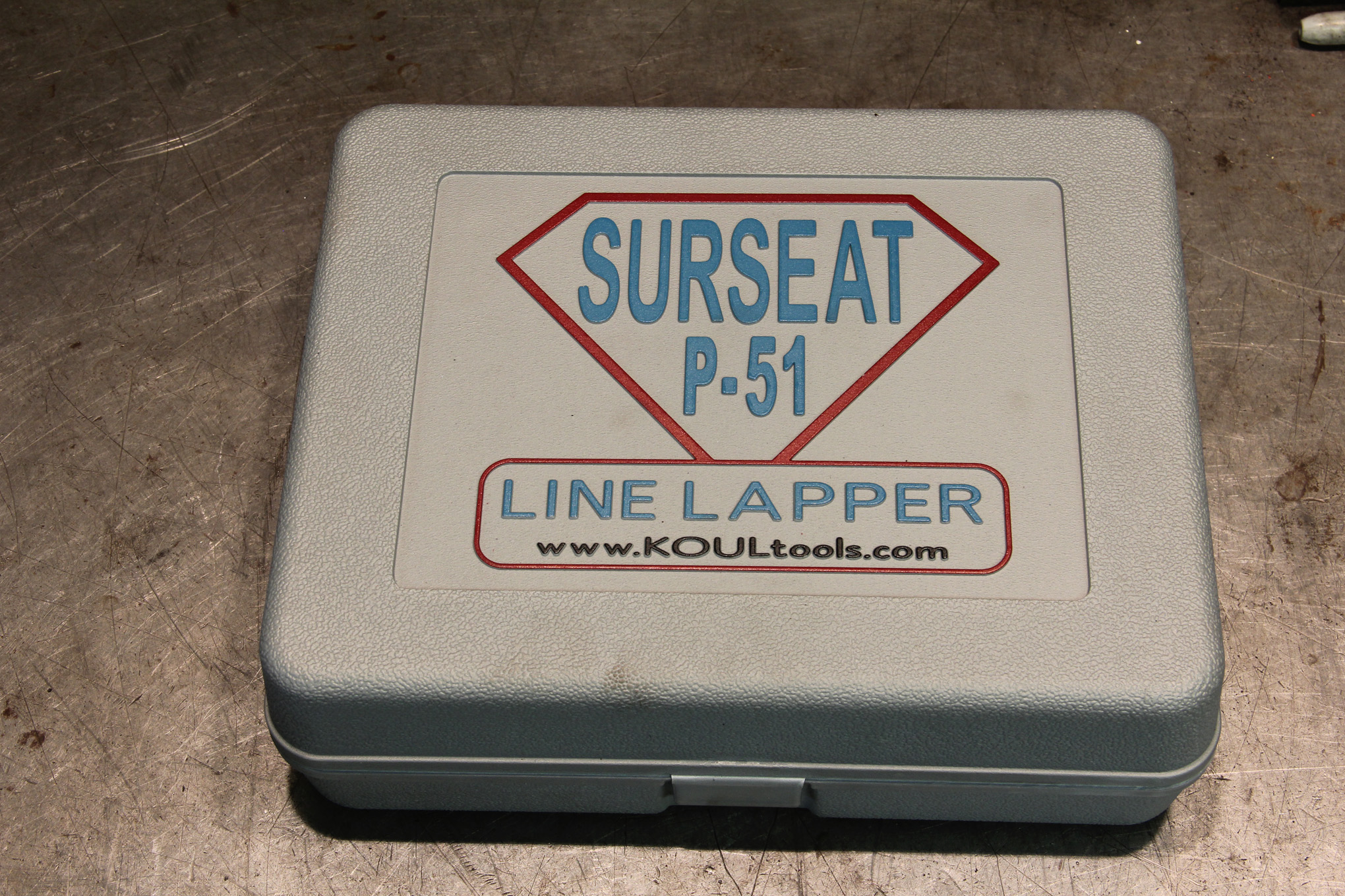 The Koul Tools line lapper, called the Surseat, comes in a handy carrying/storage case. This kit is the P-51.