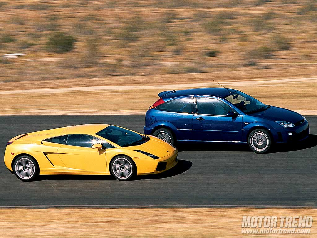 Ford Racing Focus Rs8 Vs Lamborghini Gallardo