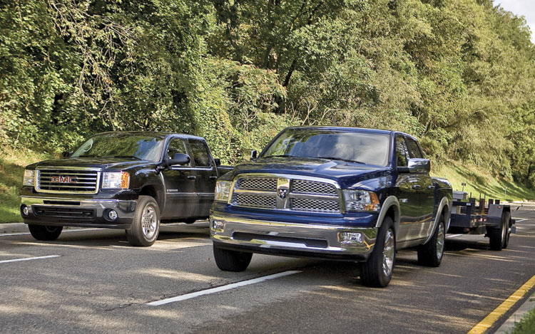 Gmc Sierra Vs Ford F 150 >> Ford F-150 vs. Chevrolet Silverado vs. Dodge Ram vs ...