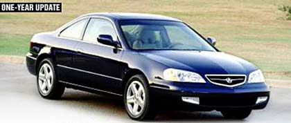 one year test update 2001 acura cl type s motor trend