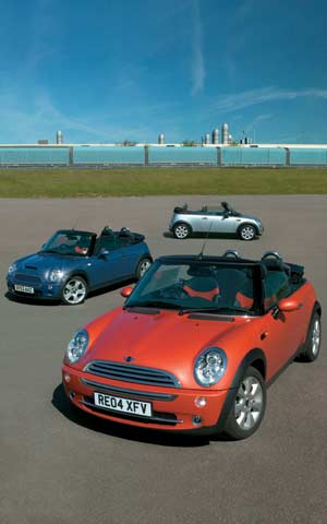 2005 mini cooper convertible first drive road test review motor trend. Black Bedroom Furniture Sets. Home Design Ideas