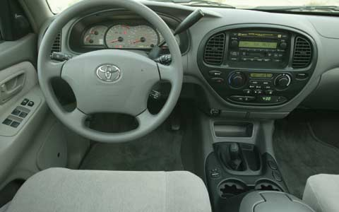Full Z Toyota Sequoia Interior View Steering Wheel